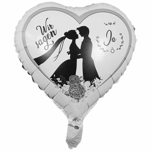 Folienballon Hochzeitsballon Herz 45cm