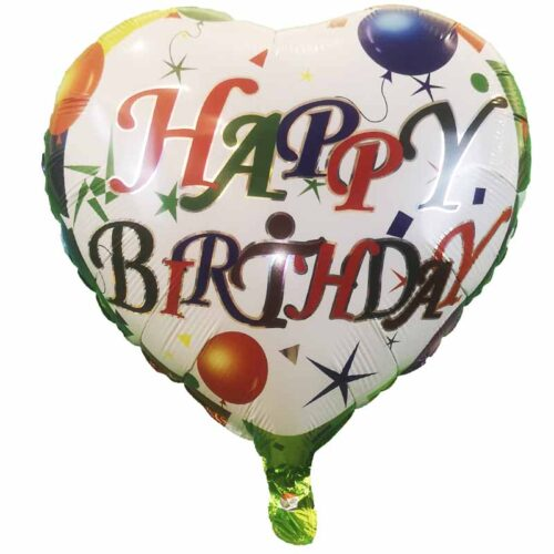 Folienballon Happy-Birthday Herz