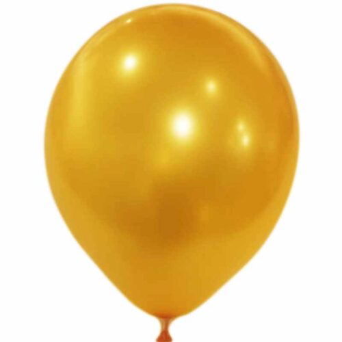 Metallic Luftballon gold 50 Stck.