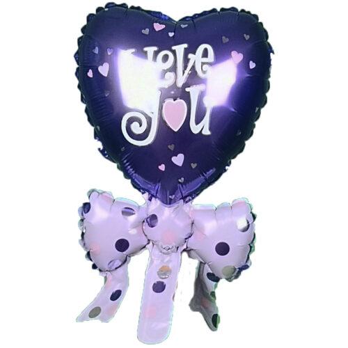 Mini Folienballon I-love-you lila