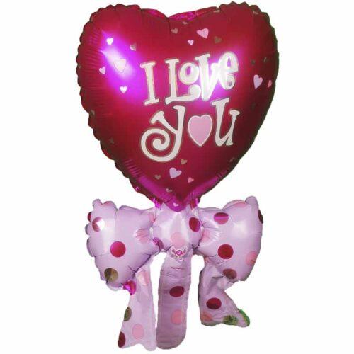 Mini Folienballon I-love-you rot