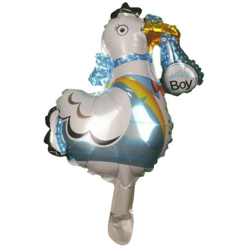 Mini Folienballon Klapperstorch Boy