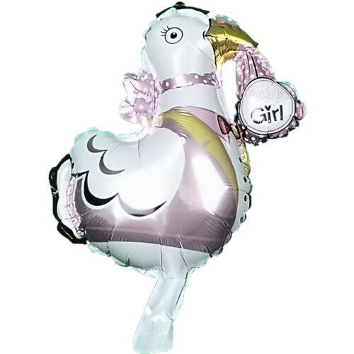 Folienballon Klapperstorch Girl