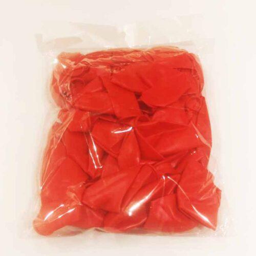 Metallic Luftballons rot