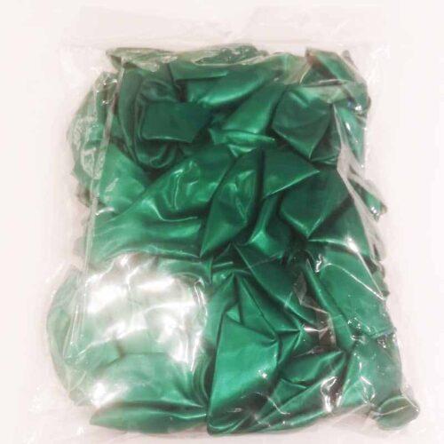 Metallic Luftballon grün
