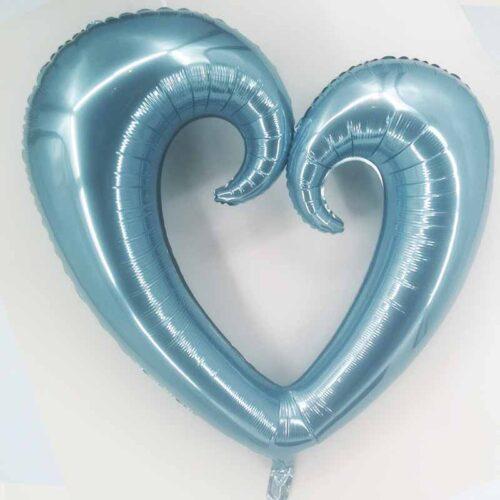 Herzballon blau XXL