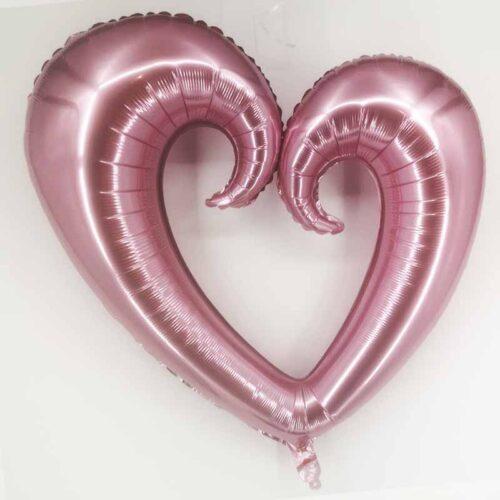 Folienballon Herz XXL rosa