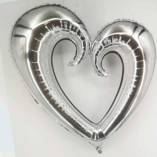 Folienballon Herz XXL silber