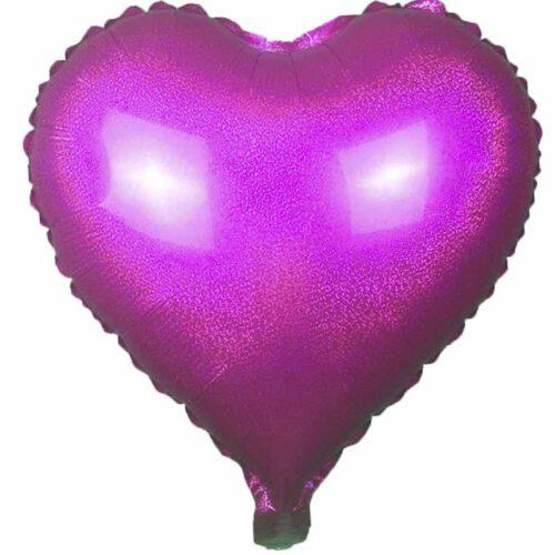 Folienballon Herz 45cm Holographic pink