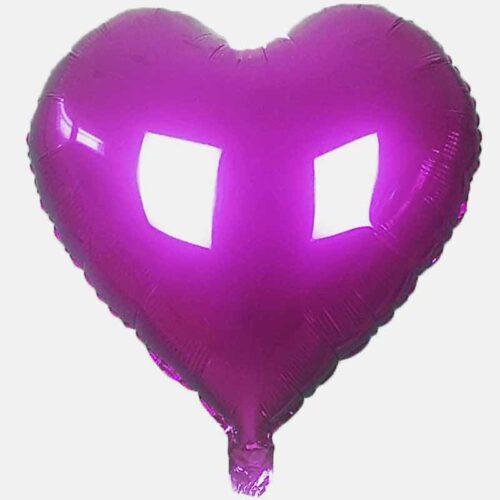 Folienballon Herz 45cm dunkel pink