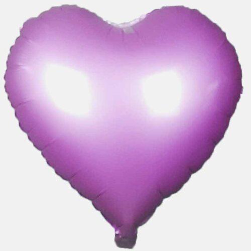 Folienballon Herz 45cm hell lila Matt