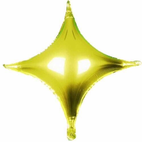 Folienballon Stern 45cm 4 zacken gold