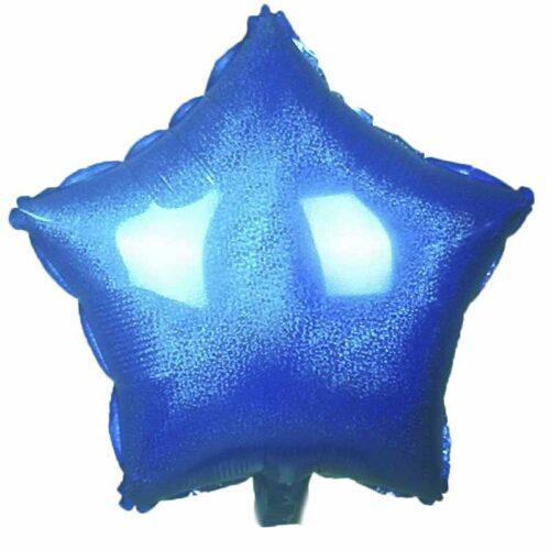 Folienballon Stern 45cm Holographic blau