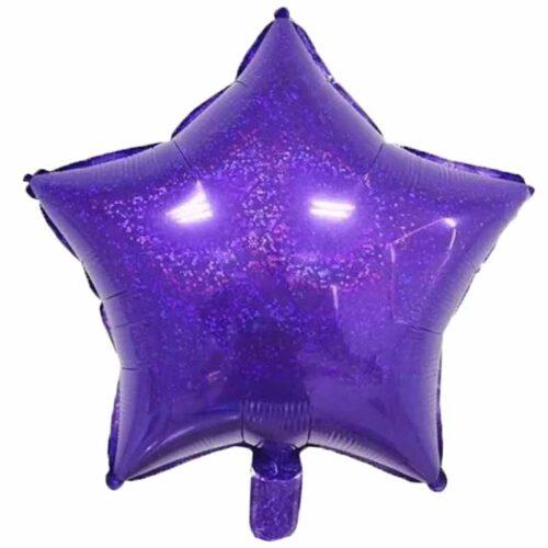 Folienballon Stern 45cm Holographic lila