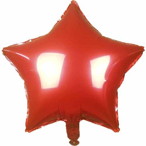 Folienballon Stern 45cm rot