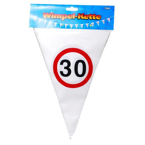 Wimpel Girlande 30