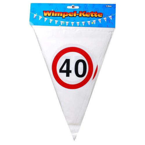 Wimpel Girlande 40