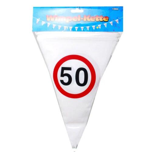 Wimpel Girlande 50
