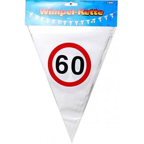 Wimpel Girlande 60